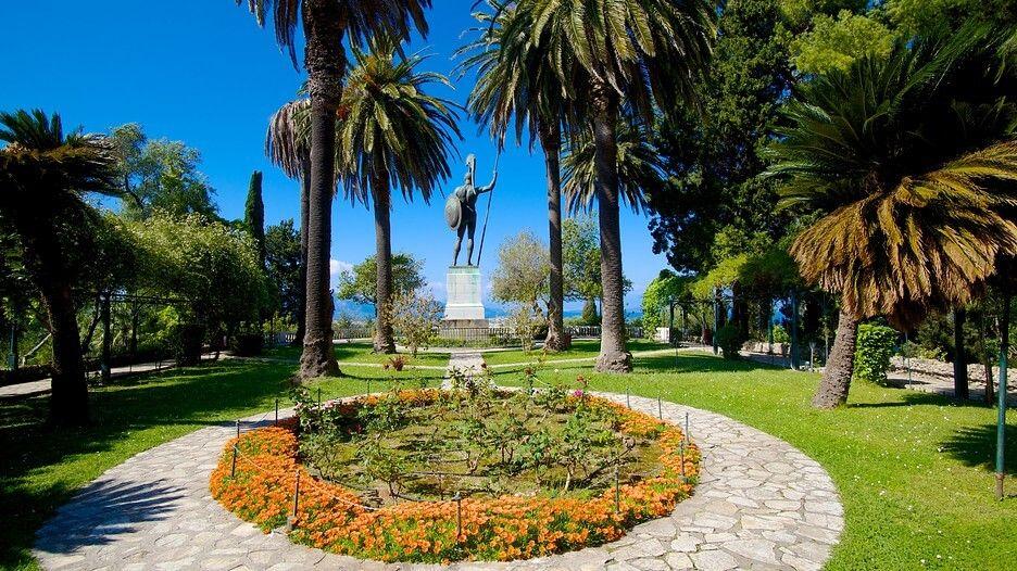 Palatul Achilleion - Gradina