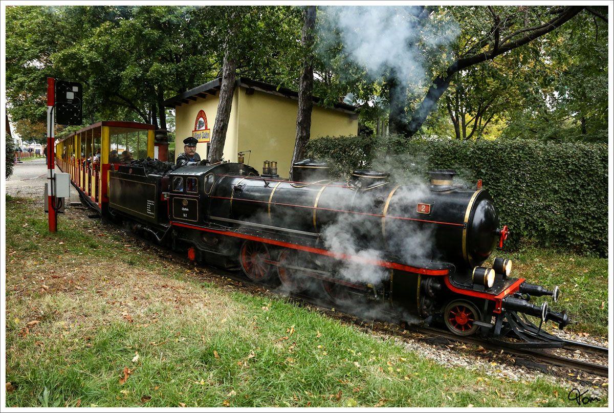 Trenuletul liliputan - Parc Prater, Viena
