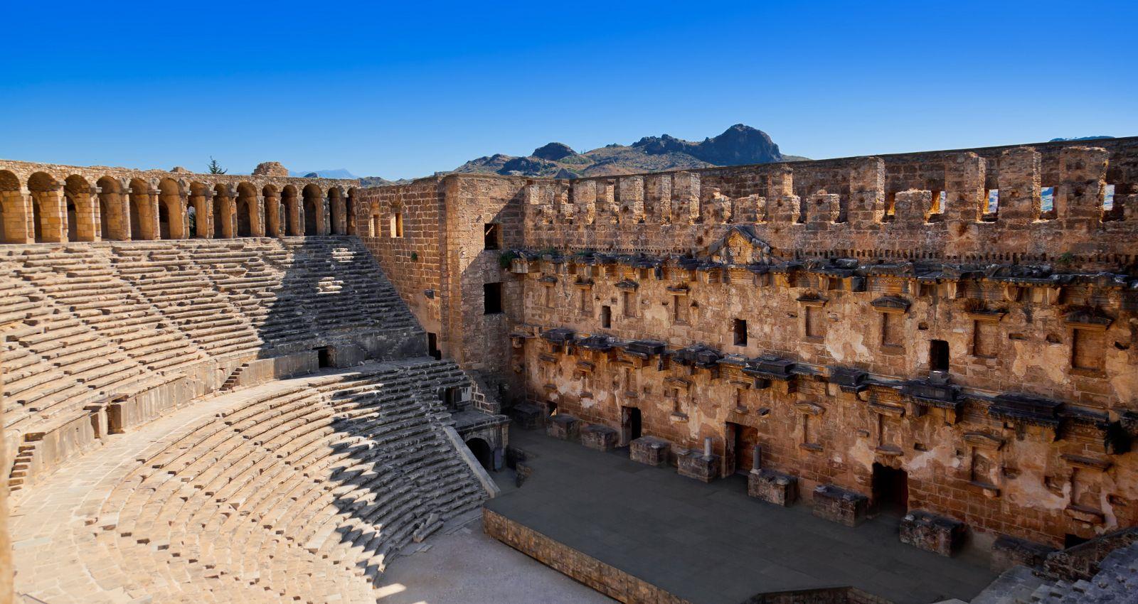 Amfiteatrul din Aspendos, Turcia