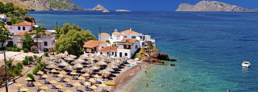 Plaja Vlychos - insula Hydra, Grecia