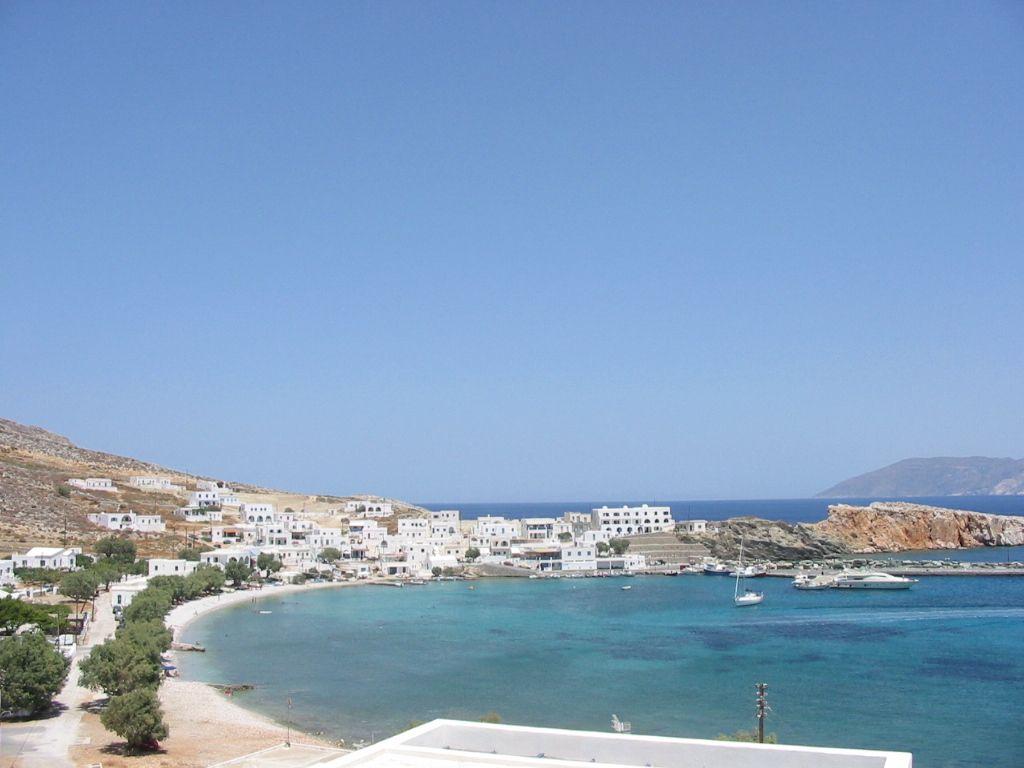 Plaja in insula Folegandros