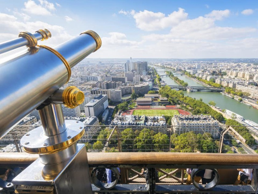 Panorama asupra Parisului din Turnul Eiffel