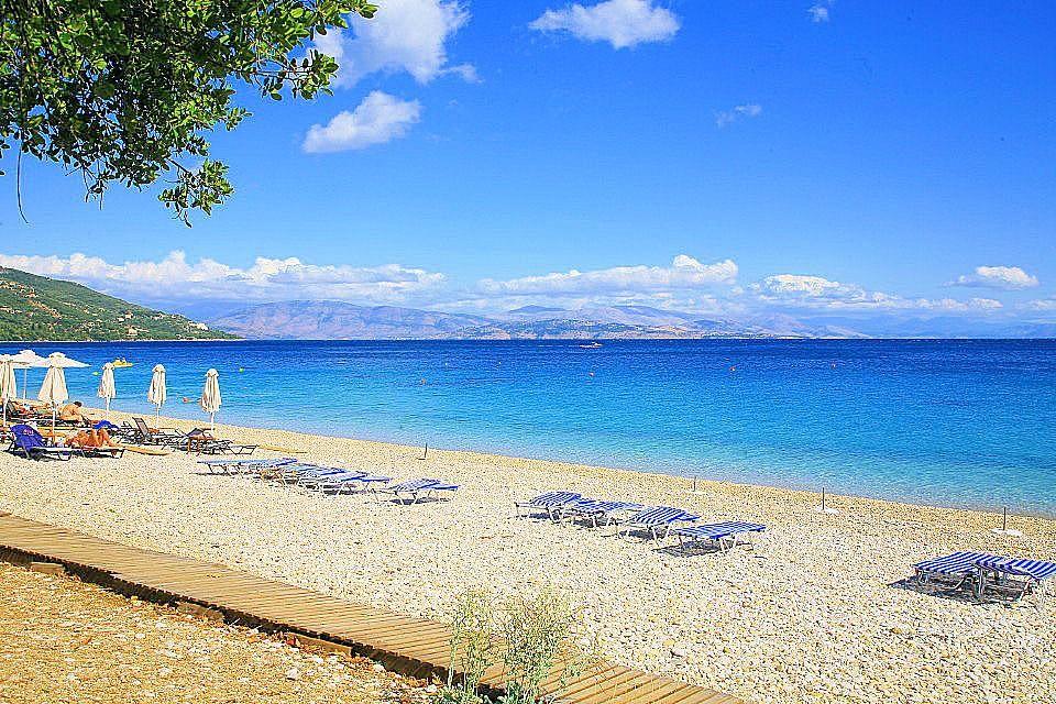 Plaja in Barbati - insula Corfu