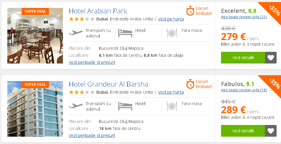 Oferte ieftine Dubai