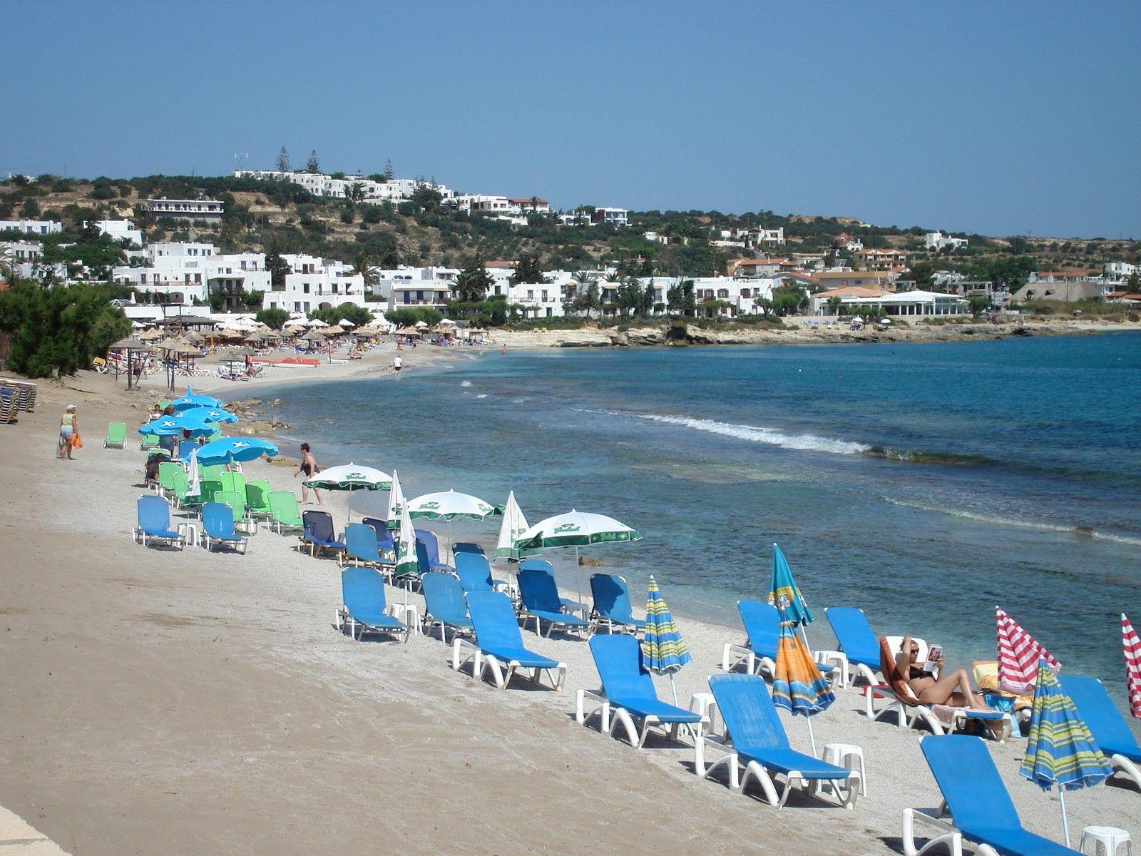 Plaja din Hersonissos, Creta