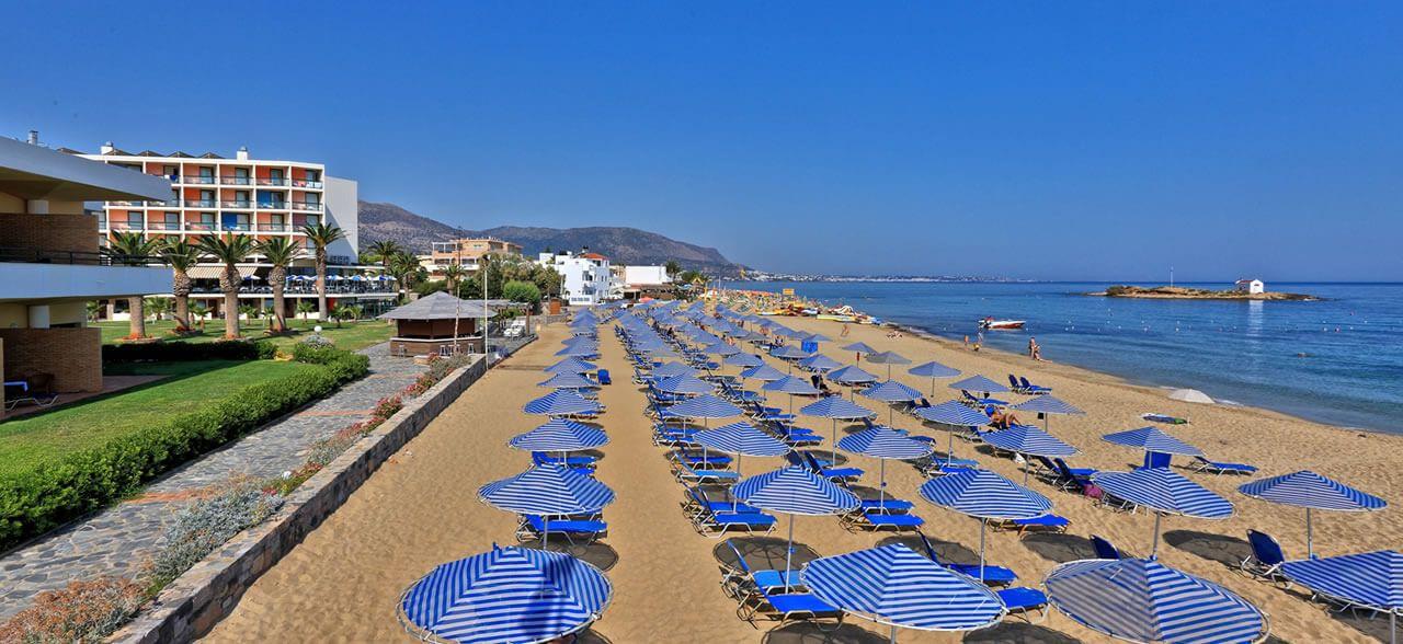 Plaja in Malia - Creta
