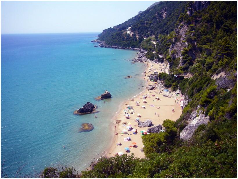 Plaja Myrtiotissa, Corfu