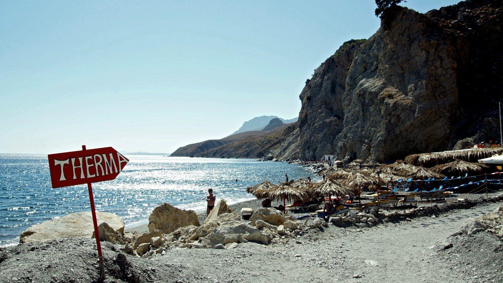 Plaja Therma - insula Kos