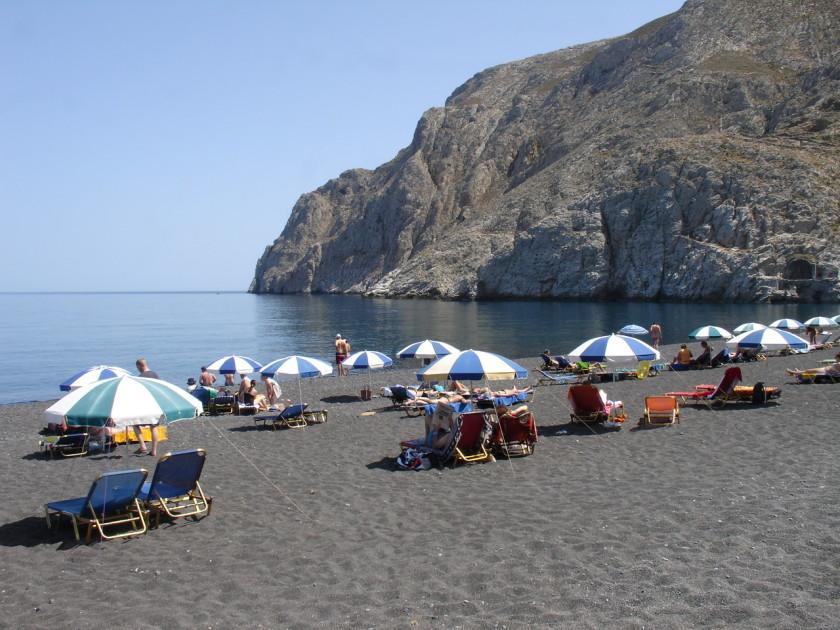 Plaja Kamari - insula Santorini