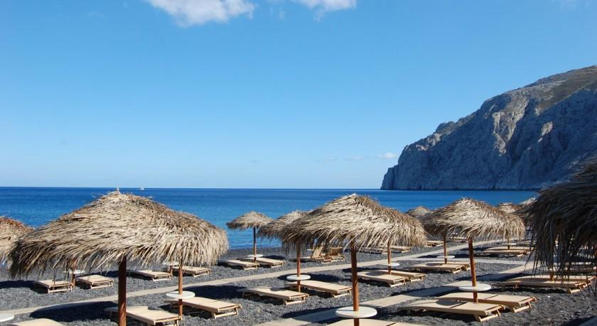 Plaja din Kamari - insula Santorini