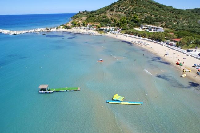 Plaja din Alykes, insula Zakynthos
