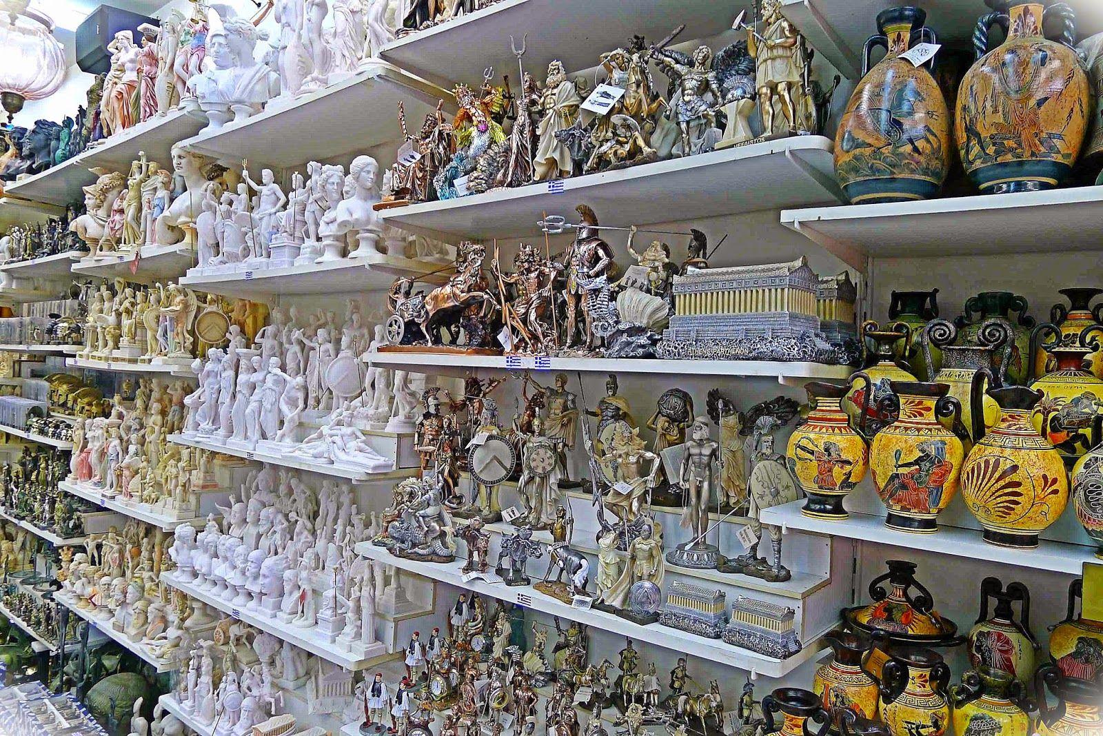 Magazin de suveniruri in Limenas