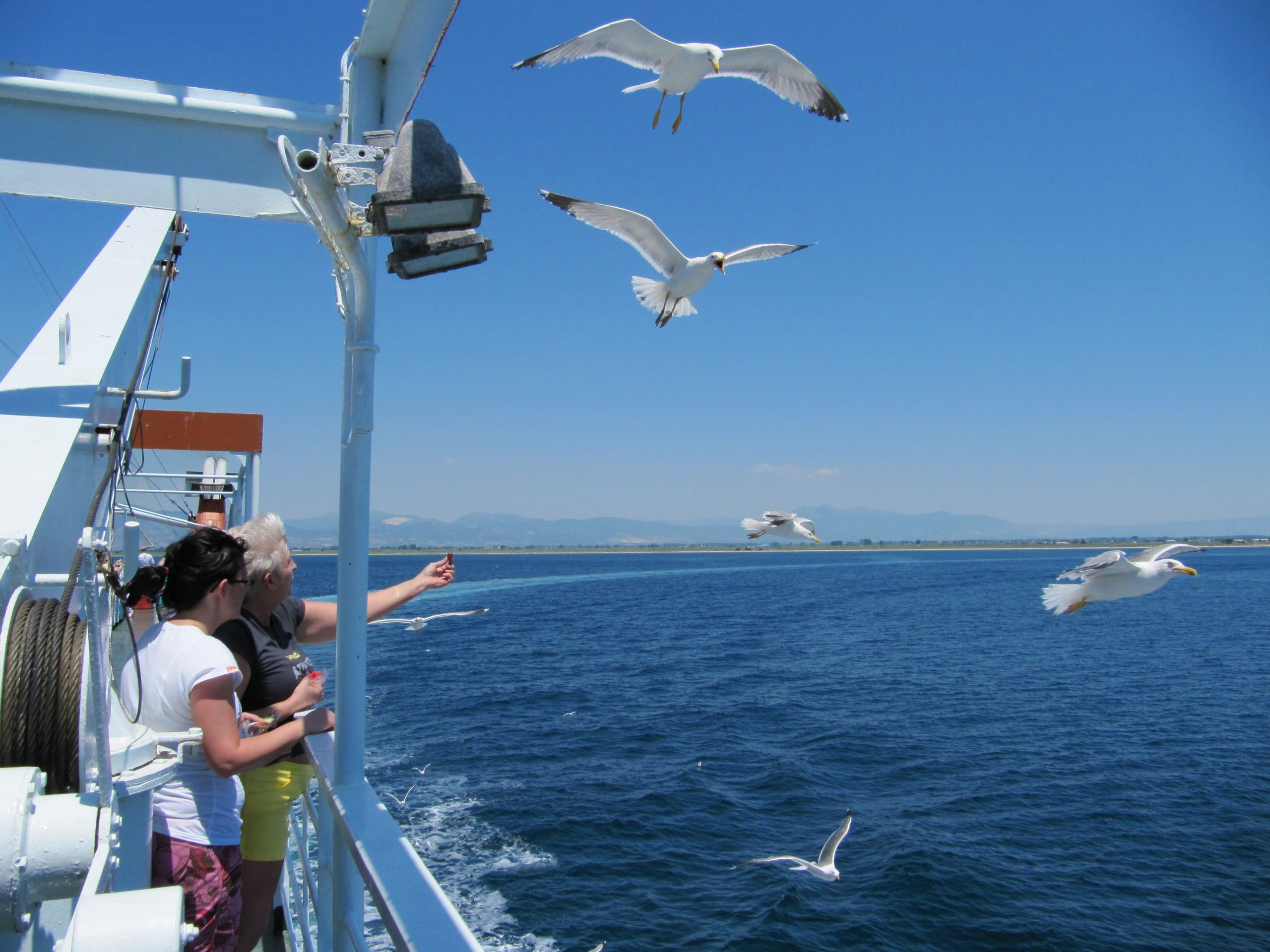 Pe ferry intre Kavala si Limenas - insula Thassos
