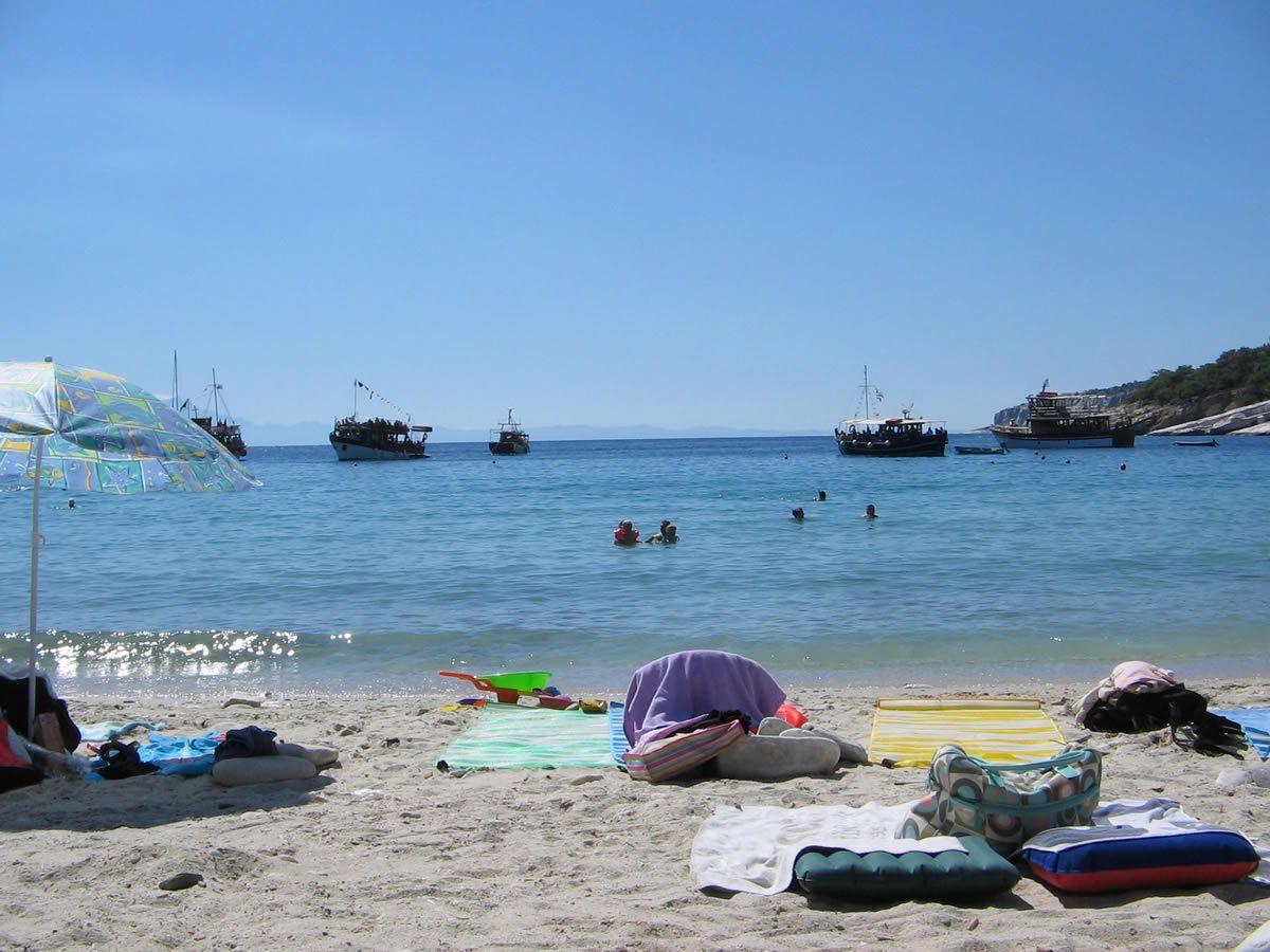 Plaja Aliki - insula Thassos, Grecia