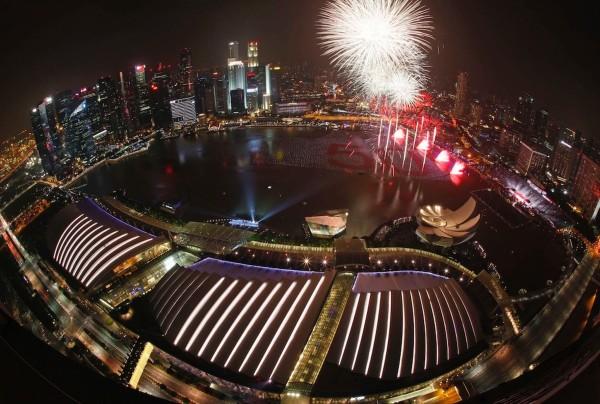 Foc de artificii Singapore