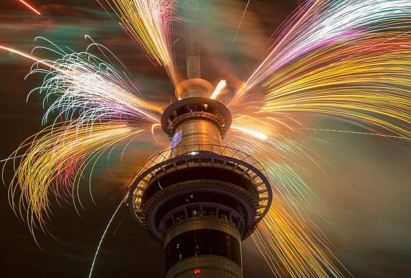 Focuri de artificii in Auckland, Noua Zeelanda