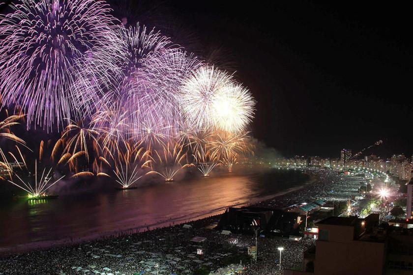 Focuri de artificii Rio de Janeiro, Copacabana