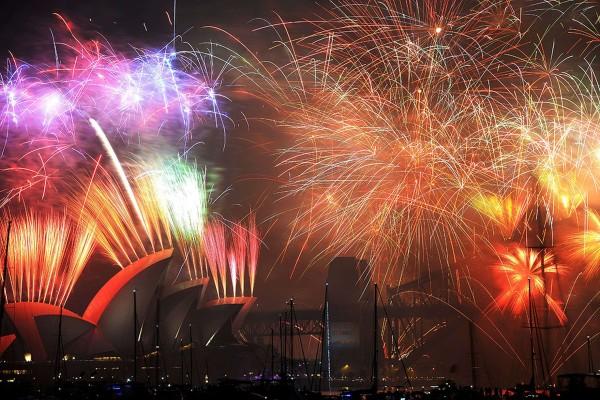 Focuri de artificii in Sydney, Australia