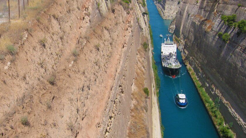 Canalul Corint - Grecia