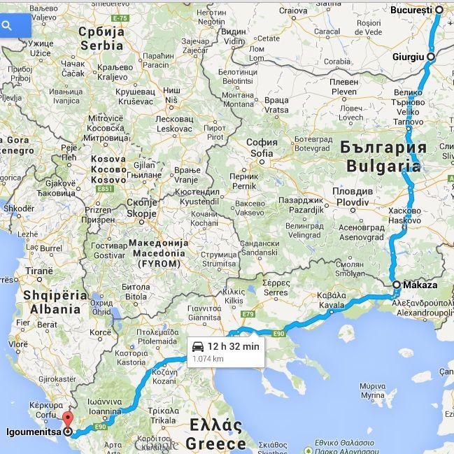 Traseu Bucuresti - Corfu prin Makaza