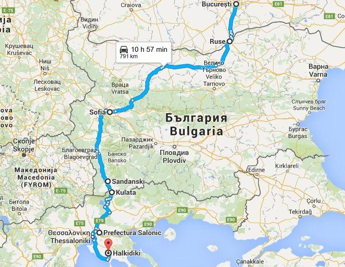 Traseu auto Bucuresti - Halkidiki, centura Sofiei