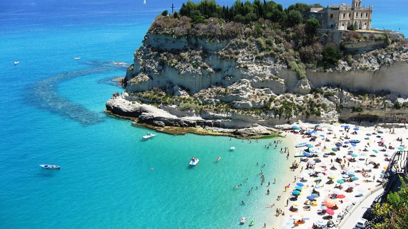 Plaja in Tropea