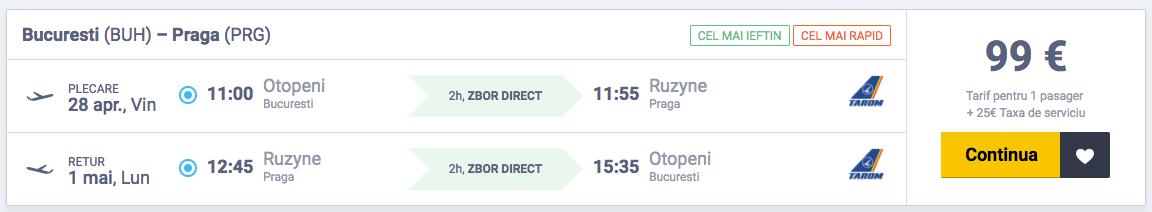 Bilete de avion Bucuresti - Praga