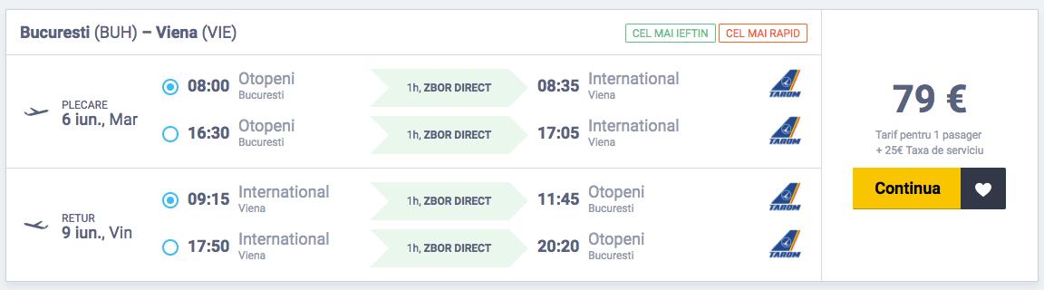 Bilete de avion Bucuresti - Viena