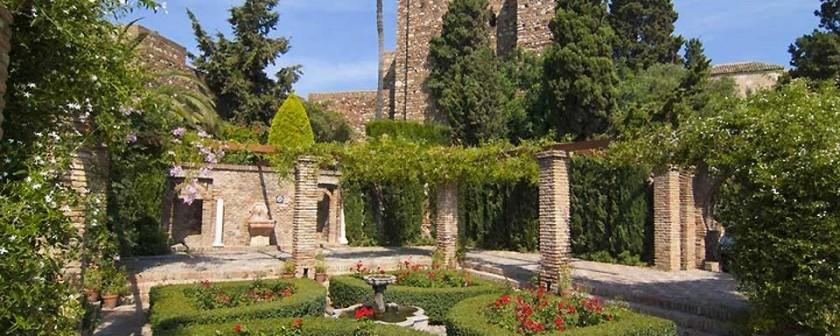Gradini interioare Alcazaba - Malaga