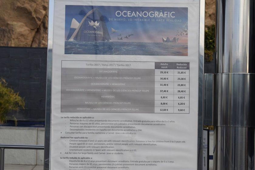 Oceanografic - Preturi