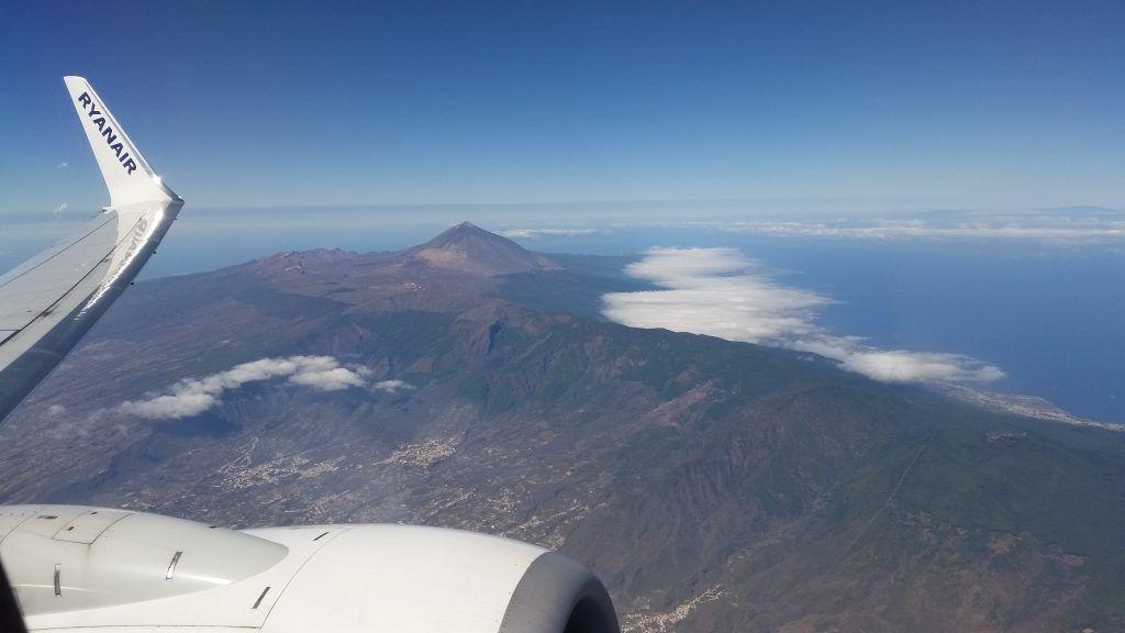 Tenerife - vedere din avion