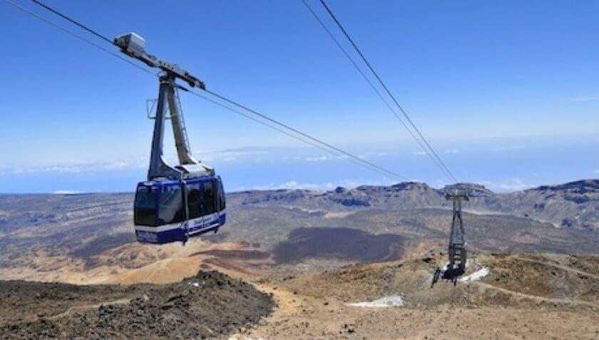 Telecabina de pe Teide