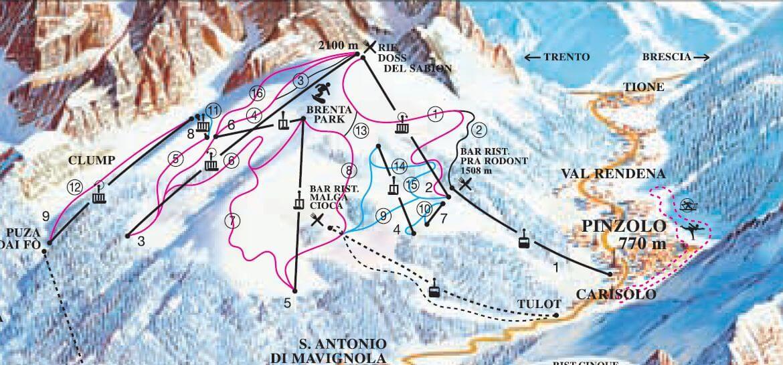 Partii de ski in Pinzolo - Italia